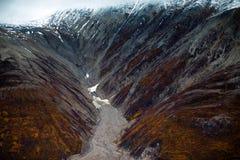 Nationalpark und Reserve Kluane, Tal und Montainsde-Ansichten Lizenzfreie Stockbilder
