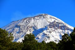 Nationalpark V Popocatepetl lizenzfreies stockbild