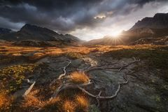Nationalpark Vanoise in Frankreich Stockfotos