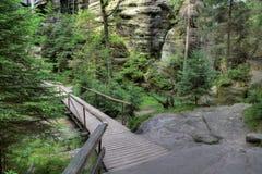 Nationalpark von Adrspach-Teplicefelsen Felsen-Stadt Stockfotos