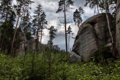 Nationalpark von Adrspach-Teplicefelsen Felsen-Stadt Stockfotografie