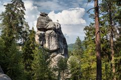 Nationalpark von Adrspach-Teplicefelsen Felsen-Stadt Stockbilder