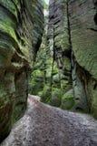 Nationalpark von Adrspach-Teplicefelsen Felsen-Stadt Tschechische Republik Stockfotografie