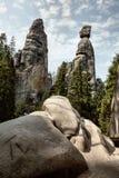 Nationalpark von Adrspach-Teplicefelsen Felsen-Stadt Tschechische Republik Lizenzfreies Stockfoto