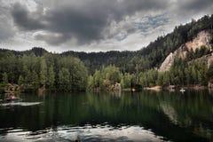 Nationalpark von Adrspach-Teplicefelsen Tschechische Republik Stockfotografie