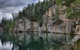 Nationalpark von Adrspach-Teplicefelsen Tschechische Republik Lizenzfreie Stockbilder