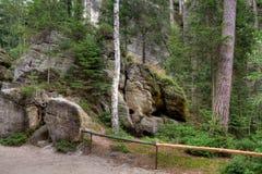Nationalpark von Adrspach-Teplicefelsen Tschechische Republik Lizenzfreie Stockfotografie