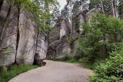 Nationalpark von Adrspach-Teplicefelsen Tschechische Republik Lizenzfreie Stockfotos