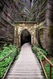 Nationalpark von Adrspach-Teplicefelsen Tschechische Republik Lizenzfreies Stockbild