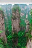nationalpark zhangjiajie för avatarhallelujahmontering Arkivfoto