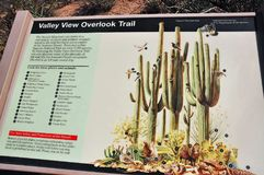 Nationalparkarizona-Staats-USA-Markierung des Saguaro Stockfotos