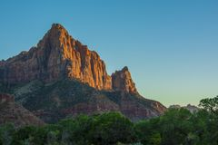Nationalparkberge Zion stockbild