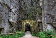 Nationalparken av Adrspach-Teplice vaggar för republiktown för cesky tjeckisk krumlov medeltida gammal sikt Fotografering för Bildbyråer
