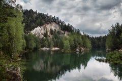 Nationalparken av Adrspach-Teplice vaggar Vagga staden Arkivbilder