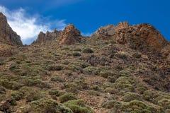 Nationalparken del Teide, sikt av magiskt parkerar royaltyfria bilder