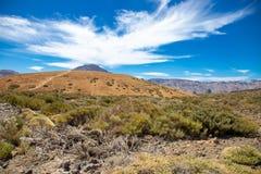 Nationalparken del Teide, sikt av magiskt parkerar fotografering för bildbyråer