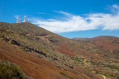 Nationalparken del Teide, sikt av magiskt parkerar royaltyfri fotografi