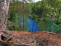 Nationalparken i Finland kallade nuuksio Arkivfoto