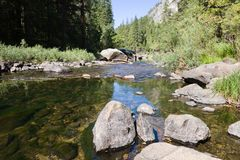 nationalparkflod yosemite Arkivbilder