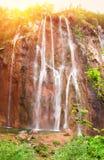 nationalparkplitvicevattenfall Arkivfoto