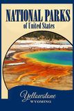 Nationalparks USA, Yellowstone NP, Reise-Plakat lizenzfreie stockfotos