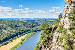 nationalparksaxon switzerland Arkivbild