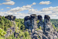 nationalparksaxon switzerland Royaltyfri Foto
