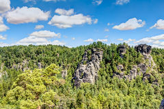 nationalparksaxon switzerland Arkivfoto