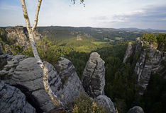 nationalparksaxon switzerland Arkivfoton