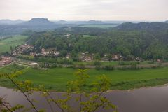 nationalparksaxon switzerland germany Arkivbilder