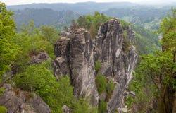 nationalparksaxon switzerland germany Royaltyfria Bilder