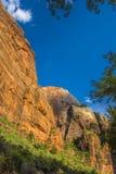 nationalparksolnedgångutah zion royaltyfri foto