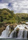 Nationalparkwasserfälle Krka im Dalmatien Stockfotos