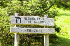 Nationalparkzeichen Stockbilder