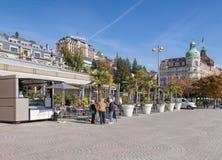 Nationalquai quay in Lucerne, Switzerland Royalty Free Stock Photography
