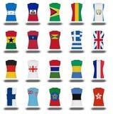 Nationals flag shirt icon on white background part 410 Stock Image
