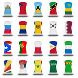 Nationals flag shirt icon on white background part 810 Stock Image