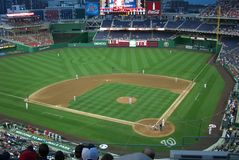 Nationals Park - Washington, DC. An early spring baseball game at Nationals Park in Washington Stock Photo
