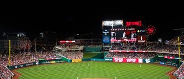 Nationals Park Washington, DC. Panoramic view of field at Nationals Park in Washington, DC Royalty Free Stock Image