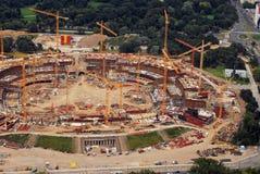 Nationalstadion in Warschau-im Entstehen befindliches Werk Lizenzfreie Stockbilder