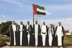 Nationaltag-Dekoration in Al Ain, UAE Lizenzfreie Stockbilder