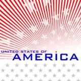 Nationaltag der Vereinigten Staaten von Amerika Stockfotos