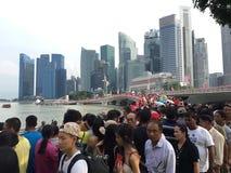 Nationaltag SG50 Singapur Lizenzfreies Stockfoto