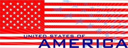 Nationaltag von USA Stockbild