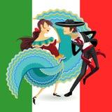 Nationaltanz-mexikanischer Hut-Tanz Jarabe Mexiko Lizenzfreies Stockfoto