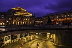 Nationaltheater München auf Maximal-Joseph-Platz stockbilder