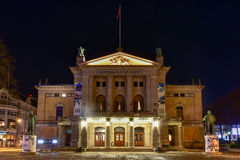 Nationaltheater von Oslo, Norwegen stockfotos