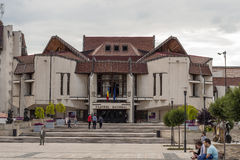 Nationatheater die /Teatrul Nationale Targu - Mures, Mures bouwen, Stock Foto