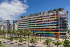 Nationell australisk bank i hamnkvarter Melbourne Royaltyfria Foton