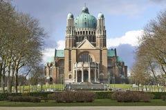 Nationell basilika av sakral hjärta i Bryssel Royaltyfria Foton